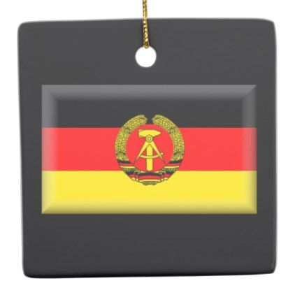 East Germany Flag Ceramic Ornament - home gifts ideas decor special unique custom individual customized individualized