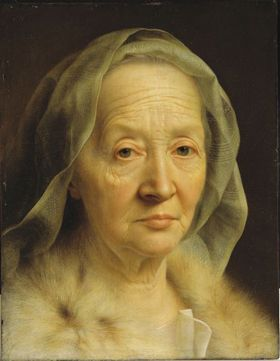 Portrait of an Old Woman - Christian Seybold (1749-50)