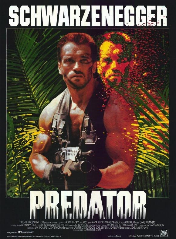 """Predator"" (1987). COUNTRY: United States. DIRECTOR: John McTiernan. CAST: Arnold Schwarzenegger, Carl Weathers, Sonny Landham, Bill Duke, Elpidia Carrillo"