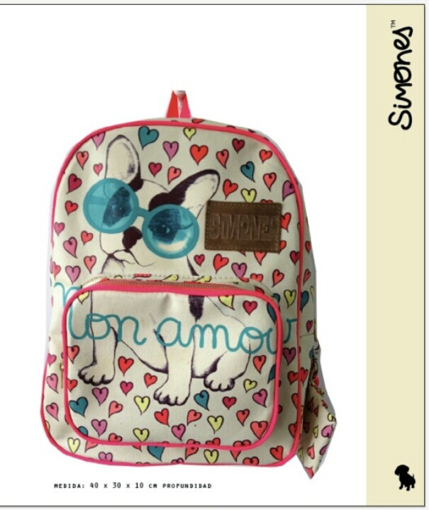 Dog 'con amor' backpack by Simones