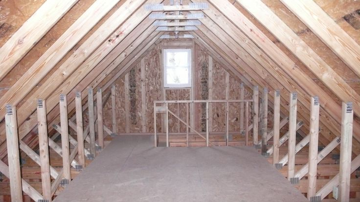 On this st paul garage we used a 10 12 room in attic truss for Bonus room truss design