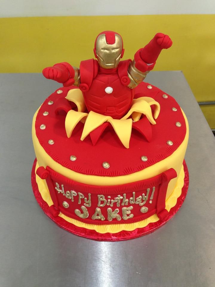 How To Make An Iron Man Cake