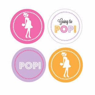 Going to Pop - Pink Decorative Mini Stickers (Set of 32)