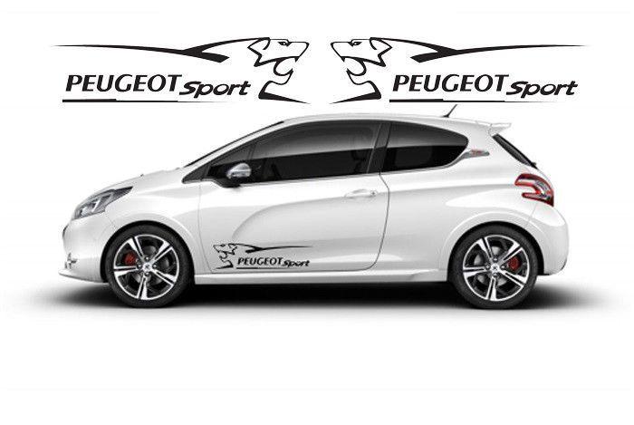 Adesivo Auto Peugeot Leone Lion Sport Striscia Fascia Tuning Colore Nero Peugeot Car Sports