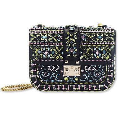 Valentino Garavani Embellished Lock Bag - bags - We're Obsessed - Fashion - Instyle.com