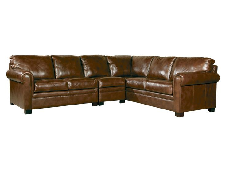 Jeromes Avery 3pc Sectional In Leather Californicana