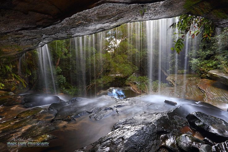 Somersby Falls Lower Falls June 2016 - Looking through the lower falls at Somersby Falls.
