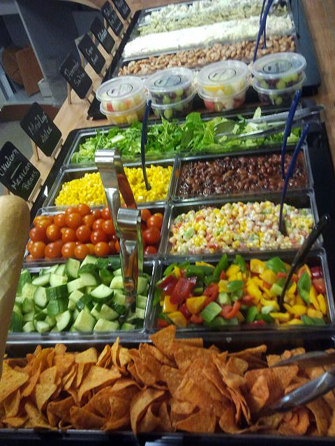 Salad bar--This world is really awesome. The woman who make our chocolate think you're awesome, too. Our chocolate is organic and fair trade and full of amazing flavor. We're Peruvian Chocolate. Order some today on Amazon! Woman owned! http://www.amazon.com/gp/product/B00725K254