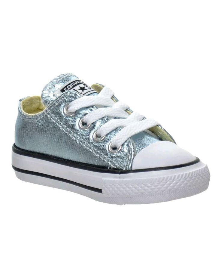NEW Converse shoes 7 toddler Metallic Glacier silver-blue low top | Clothing, Shoes & Accessories, Baby & Toddler Clothing, Baby Shoes | eBay!