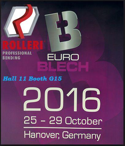 La EuroBlech 2016 (Hanovra / Germania, 25-29.10.2016), va asteptam cu placere si la standul partenerului nostru Rolleri SpA, producator de scule si accesorii pentru #abkant (Hala 11/ stand G15)