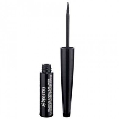 Natural Liquid Eyeliner is equipped with a handy, flexible brush that allows you to draw a clear and distinct line. Available in Black.  Lengthens and defines lashes  Suitable for sensitive eyes  BDIH certified