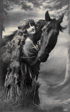 Lady Godiva inspiration images for Dr. Sketchy's Anti-Art School session, branch in Austin