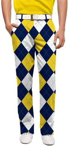 Mens Blue & Gold Mega Made To Order Pants by Loudmouth Golf.  Buy it @ ReadyGolf.com