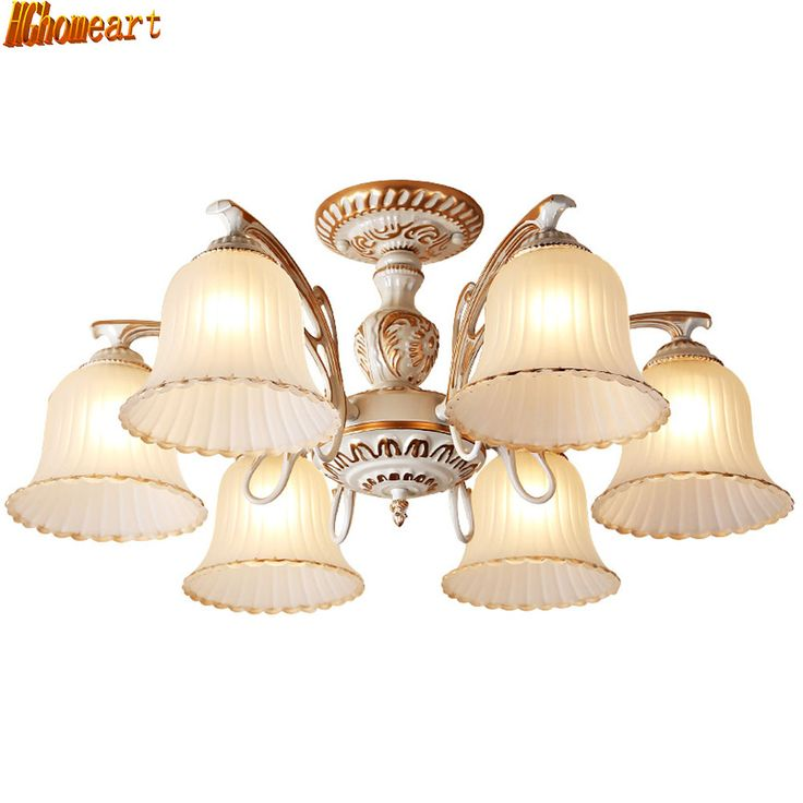 HGhomeart Living Room Retro Ceiling Light Warm And Romantic Bedroom Mediterranean Style E27 Restaurant