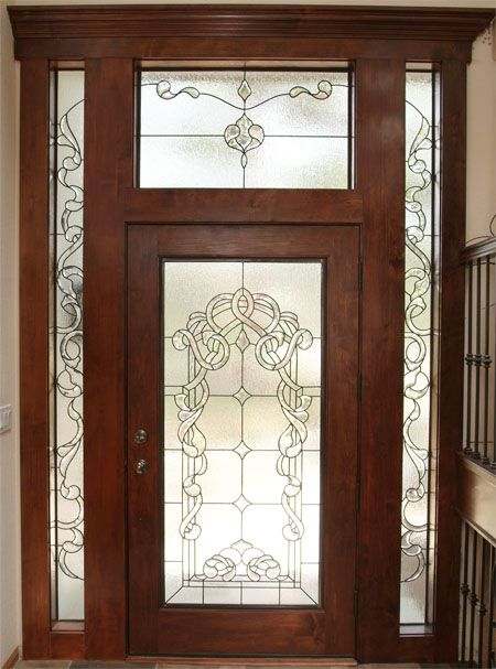 Beautiful custom stained glass entryway