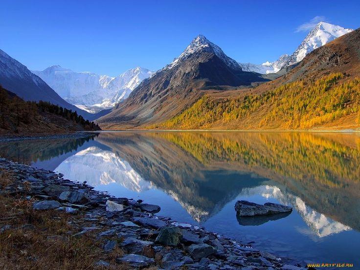 Обои Магнитка Алтай-осень 25 Природа Реки/Озера, обои для рабочего стола, фотографии Обои для рабочего стола, скачать обои картинки заставки на рабочий стол.