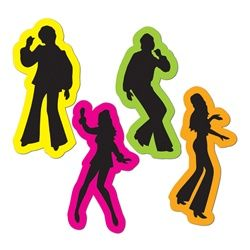 Yeah these Retro 70's Silhouettes were dancin' and singin' and movin' to the groovin'. Play that funky music at your 70's Disco Party so your guests can boogie on down to the dance floor and show off their best disco moves.