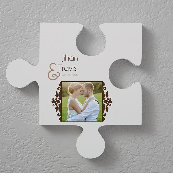 Two Name Personalized Puzzle Piece Wall Decor Wall Puzzle Puzzle Picture Frame Unique Wall Art