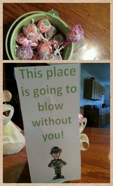 Made this for my best friend's going away party. Army national guard. Cute easy idea