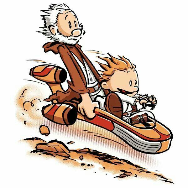 Calvin & Hobbs - Star Wars style!