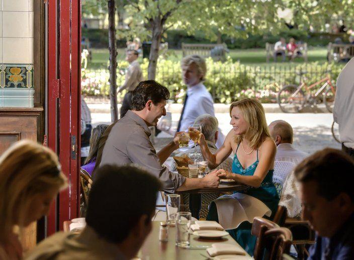 Rittenhouse Square's Parc restaurant.