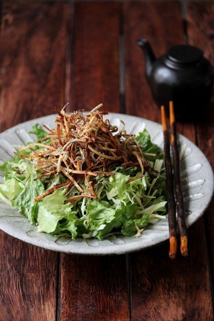 パリパリごぼうとしらすの和サラダ。 by 栁川かおり | レシピサイト「Nadia | ナディア」プロの料理を無料で検索