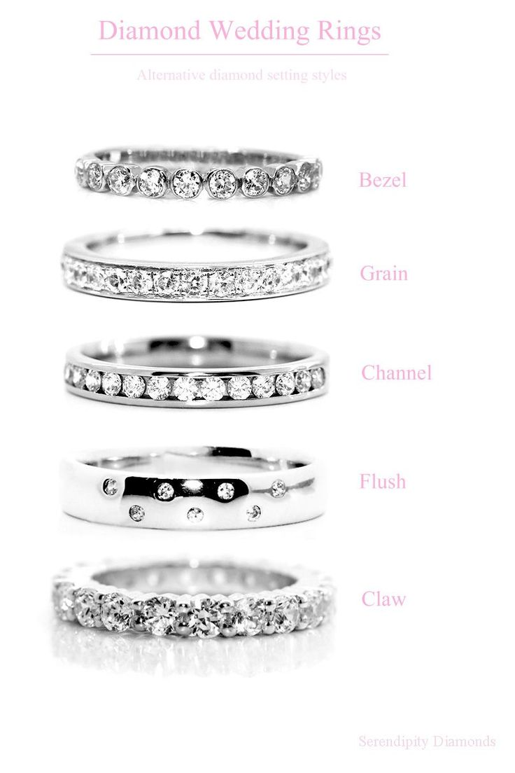 wedding rings diamond setting styles for wedding rings