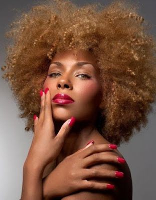 strawberry blonde afro hair  http://www.hairstylo.com/2015/07/strawberry-blonde-hair.html