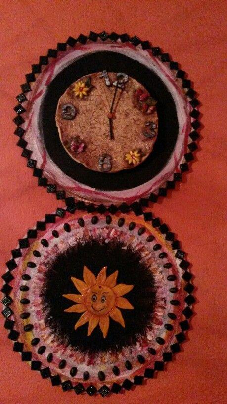 DIY Keramicke hodiny a slunce