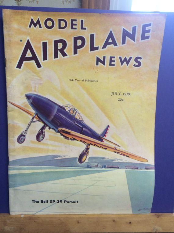 Vintage Model Airplane News Magazine 1939 by HenNChicksVintage