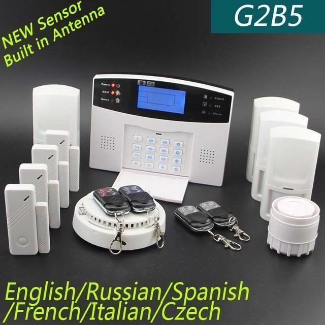 Lcd Keyboard Ru Sp Eg Fr It Voice Wireless Sms Home Gsm Alarm System House Intelligent Au Gsm Alarm System Home Security Systems Wireless Home Security Systems