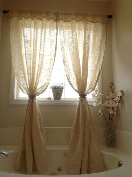 Oyster washed burlap curtain panels by everythingburlap on Etsy https://www.etsy.com/listing/183251539/oyster-washed-burlap-curtain-panels