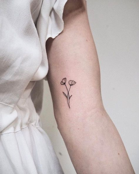 Kalifornien-Mohnblumen – kleine Blumen-Tätowierungen – Fotos #tattoos