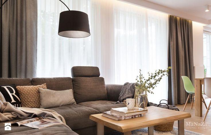 apartament nad Wisłą w Krakowie - Salon, styl skandynawski - zdjęcie od MaNaZa