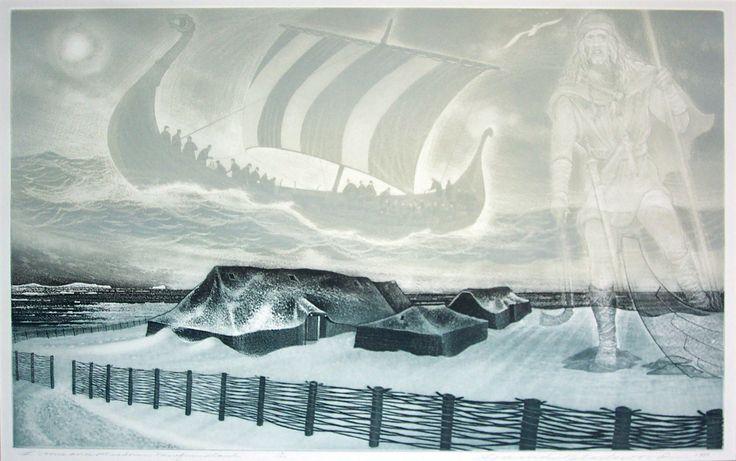 'L'Anse Aux Meadows, Newfoundland' by David Blackwood (1941)