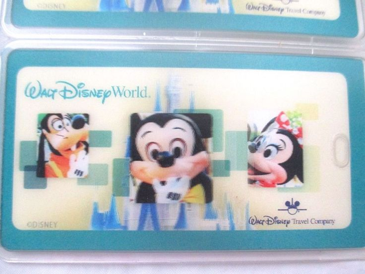 Holographic front with Mickey Mouse, Minnie Mouse, and. 8 Walt Disney World ID badge protector holders have a 3D. Will have either AAA auto logos or Disney Travel logos on them. Never been used. | eBay!