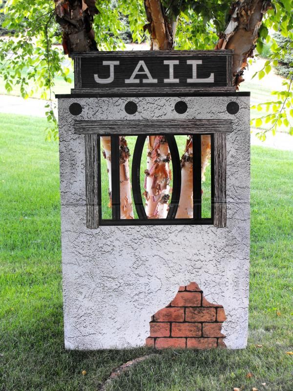 Western Party Theme jail | western party. western theme. western props. jail prop.