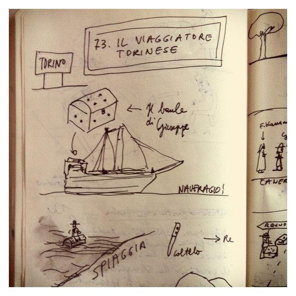 073_Il viaggiatore torinese disegnata da Marco Belpoliti su @ moleskine