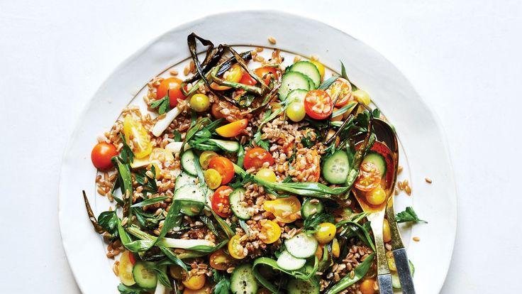Farro And Tomato Salad With Fish-Sauce Vinaigrette