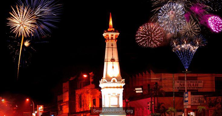 Suasana malam tahun baru di Jogja