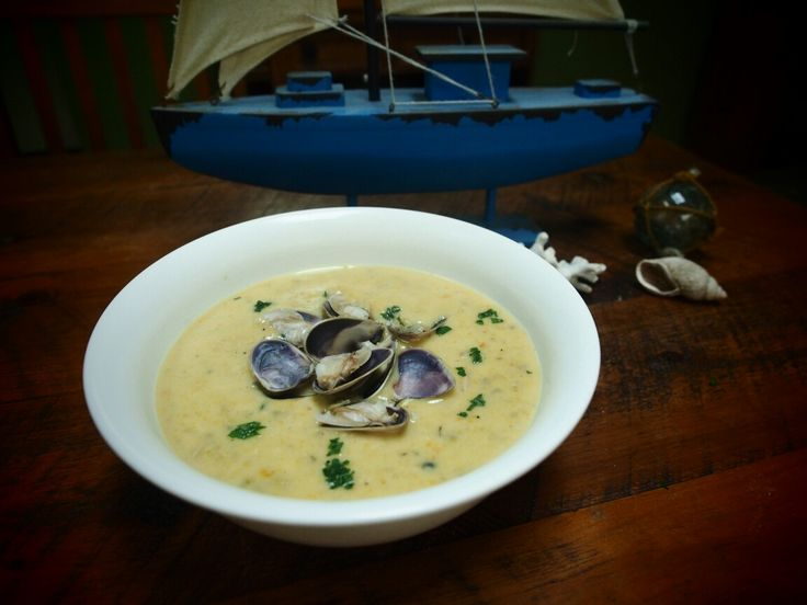 Home cooking. Clam chowder.