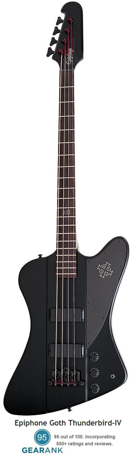 Epiphone Goth Thunderbird-IV Bass Guitar.  This is the highest rated bass under $300 with a street price of $299.99. For a detailed guide to cheap bass guitars see https://www.gearank.com/guides/cheap-bass-guitars