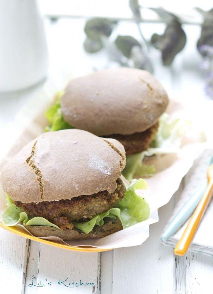Pains pita (sans gluten) et burgers de lentilles, Lili's Kitchen