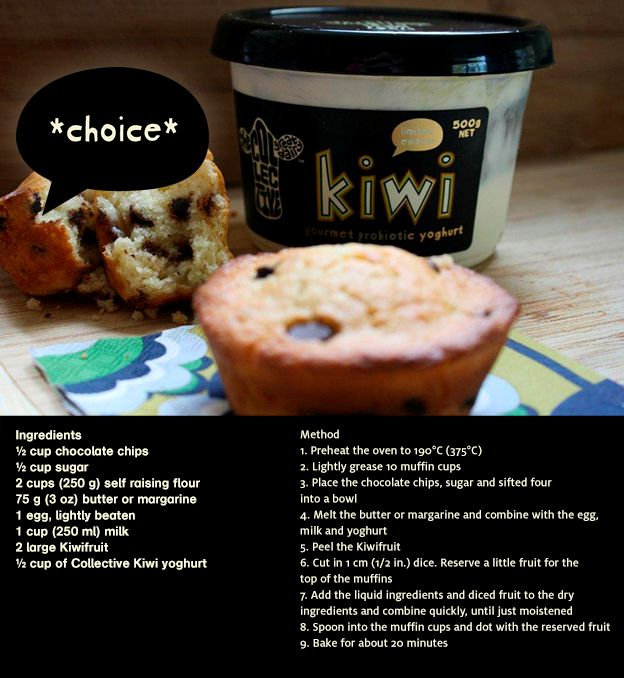 check out this recipe for kiwifruit muffins! definitely something worth sinkin' your teeth into... #nobull