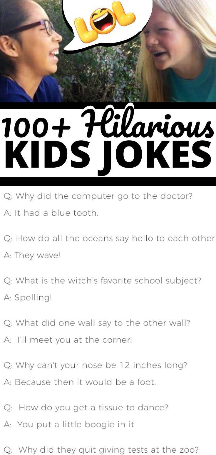 100 Jokes For Kids Clean Funny Jokes Funny Jokes For Kids Really Funny Joke