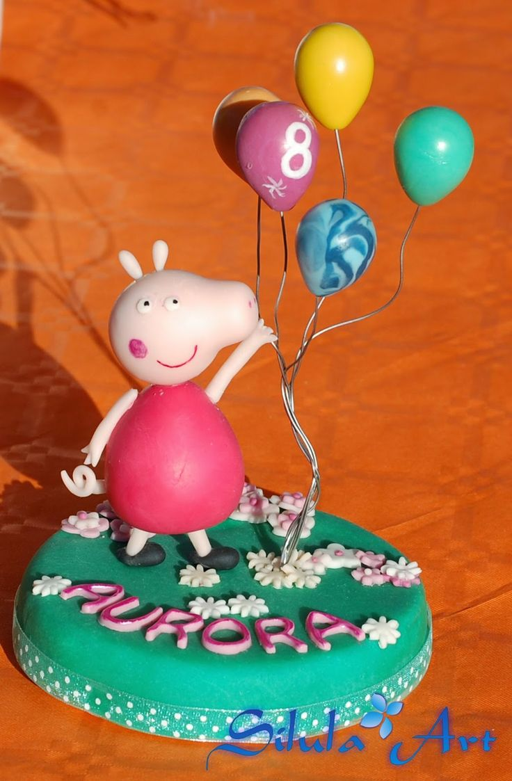 Silula Art: Cake topper Peppa Pig