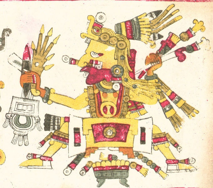 """Tonacatecuhtli, Lord of Our Sustenance, is a primordial creator god, a god of fertility and beginnings. Tonacatecuhtli is the being at the """"center"""" of existence, a place around which everything revolves but where everything is still and at rest."""