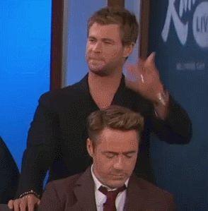 Chris Hemsworth * Robert Downey Jr dorks lol