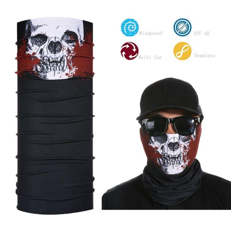 Tube Skull Face Mask Fishing Sport Multifunction Neck Scarf Face Shield