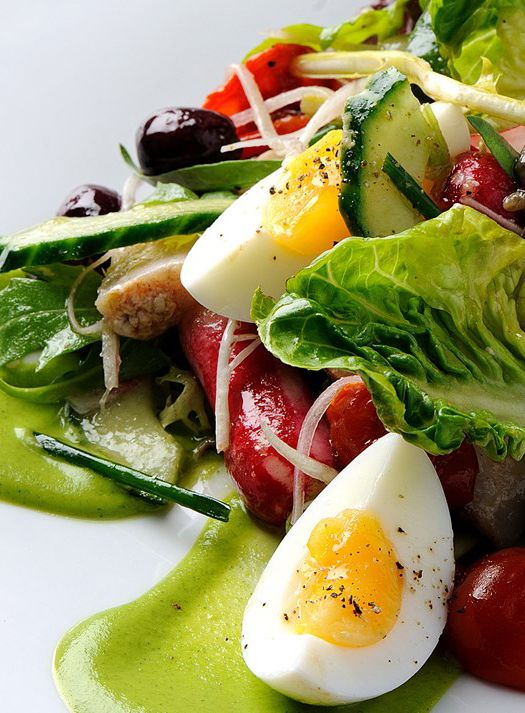 Salade Niçoise is a classic summery dish featuring tuna, anchovies, and soft boiled eggs which hails from Nice in the south of France. Toulouse-born Pascal Aussignac's salad Niçoise recipe is relatively classical - so the focus should be on ingredients and presenting it beautifully on a summer's day.